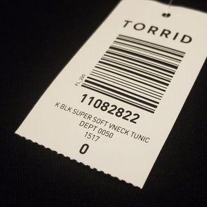 torrid Tops - Torrid NWT Super Soft Vneck Tunic Size 0